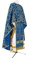 Greek Priest vestment -  rayon brocade S3 (blue-gold)