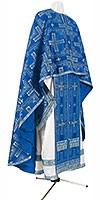 Greek Priest vestment -  rayon brocade S3 (blue-silver)