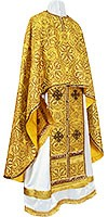Greek Priest vestment -  rayon brocade S2 (yellow-claret-gold)