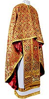 Greek Priest vestment -  rayon brocade S3 (red-gold)