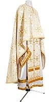 Greek Priest vestment -  rayon brocade S3 (white-gold)