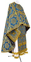 Greek Priest vestment -  rayon brocade S4 (blue-gold)
