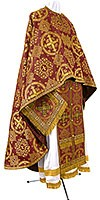 Greek Priest vestment -  rayon brocade S4 (claret-gold)