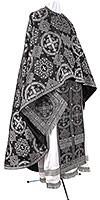 Greek Priest vestment -  rayon brocade S4 (black-silver)