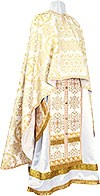 Greek Priest vestment -  rayon brocade S4 (white-gold)