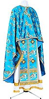 Greek Priest vestment -  rayon Chinese brocade (blue-silver)