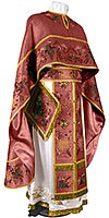Embroidered Greek Priest vestments - Chrysanthemum (claret-gold)