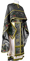 Embroidered Greek Priest vestments - Chrysanthemum (black-gold)