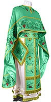 Embroidered Greek Priest vestments - Chrysanthemum (green-gold)