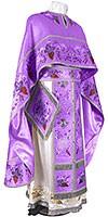 Embroidered Greek Priest vestments - Chrysanthemum (violet-silver)