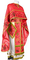 Embroidered Greek Priest vestments - Chrysanthemum (red-gold)