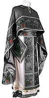 Embroidered Greek Priest vestments - Chrysanthemum (black-silver)