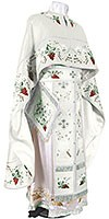 Embroidered Greek Priest vestments - Chrysanthemum (white-silver)