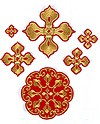 Kozelsk cross vestment set