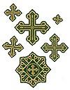 Rovno cross vestment set