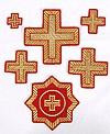 Lyvny cross vestment set