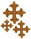 Hand-embroidered crosses - D148