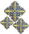 Hand-embroidered crosses - D173