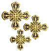 Hand-embroidered crosses - D184