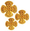 Hand-embroidered crosses - D187