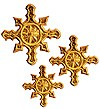 Hand-embroidered crosses - D192