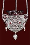 Vigil lamps: Filigree oil lamp no.17-18
