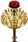 Church floor candle-stand for 35 candles (for children)