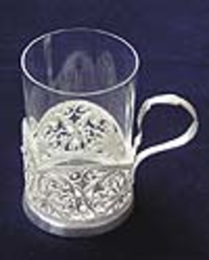 Tea glass-holder Daisywheel