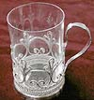 Tea glass-holder Nickel-plated no.2