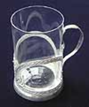 Tea glass-holder Nickel-plated no.3
