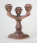 Table candle stands Three-candle stand