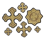 Wattle cross vestment set