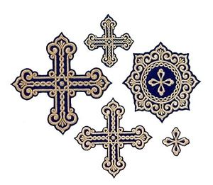 Oriental cross vestment set