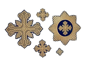 Festive cross vestment set