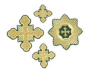Forged cross vestment set