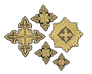 Lily cross vestment set