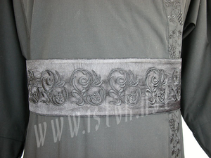 Embroidered clergy belt - Flax