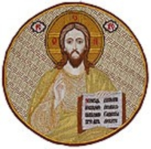 Embroidered icon of Christ the Pantocrator