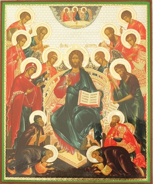 Religious Orthodox icon: Deisis
