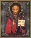 Religious Orthodox icon: Holy Hierarch Nicholas the Wonderworker - 3