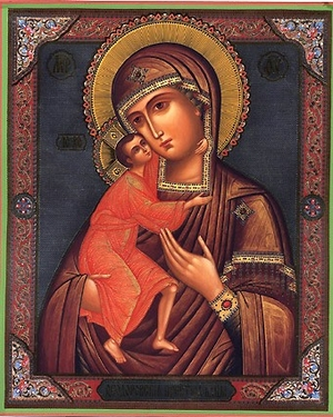 Religious Orthodox icon: Theotokos of Theodoroff - 1