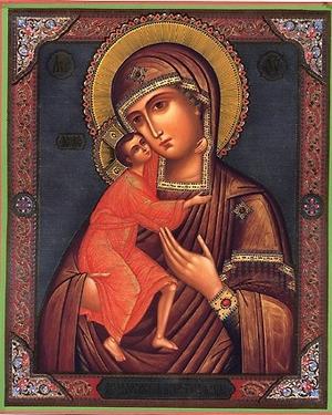 Religious Orthodox icon: Theotokos of Theodoroff - 1