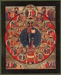 Religious Orthodox icon: Church of Christ