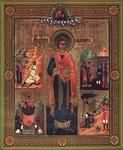 Religious Orthodox icon: Holy Great Martyr and Healer Pantheleimon