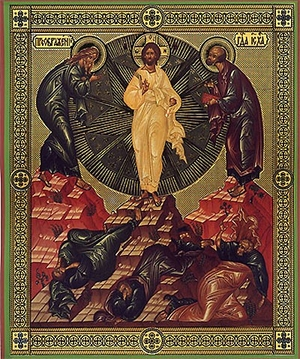 Religious Orthodox icon: Transfiguration