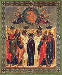 Religious Orthodox icon: Ascension of the Lord