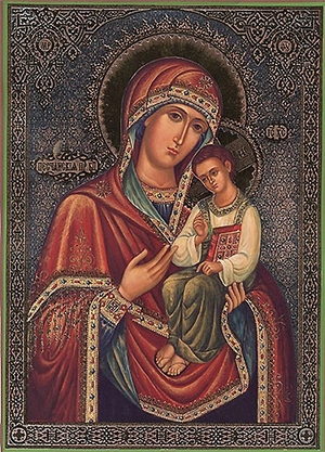 Religious Orthodox icon: Theotokos of Peschansk
