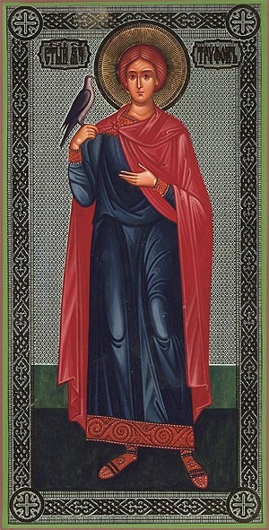 Religious Orthodox icon: Holy Martyr Tryphon