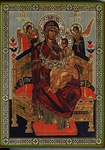 Religious Orthodox icon: Theotokos the Queen of All - 1