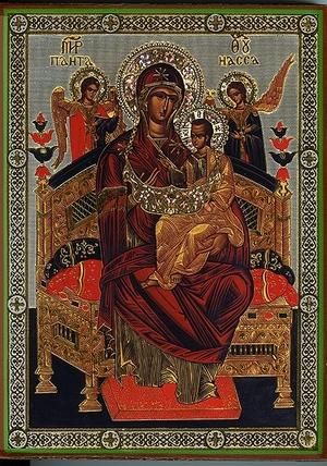 Religious Orthodox icon: Theotokos the Queen of All